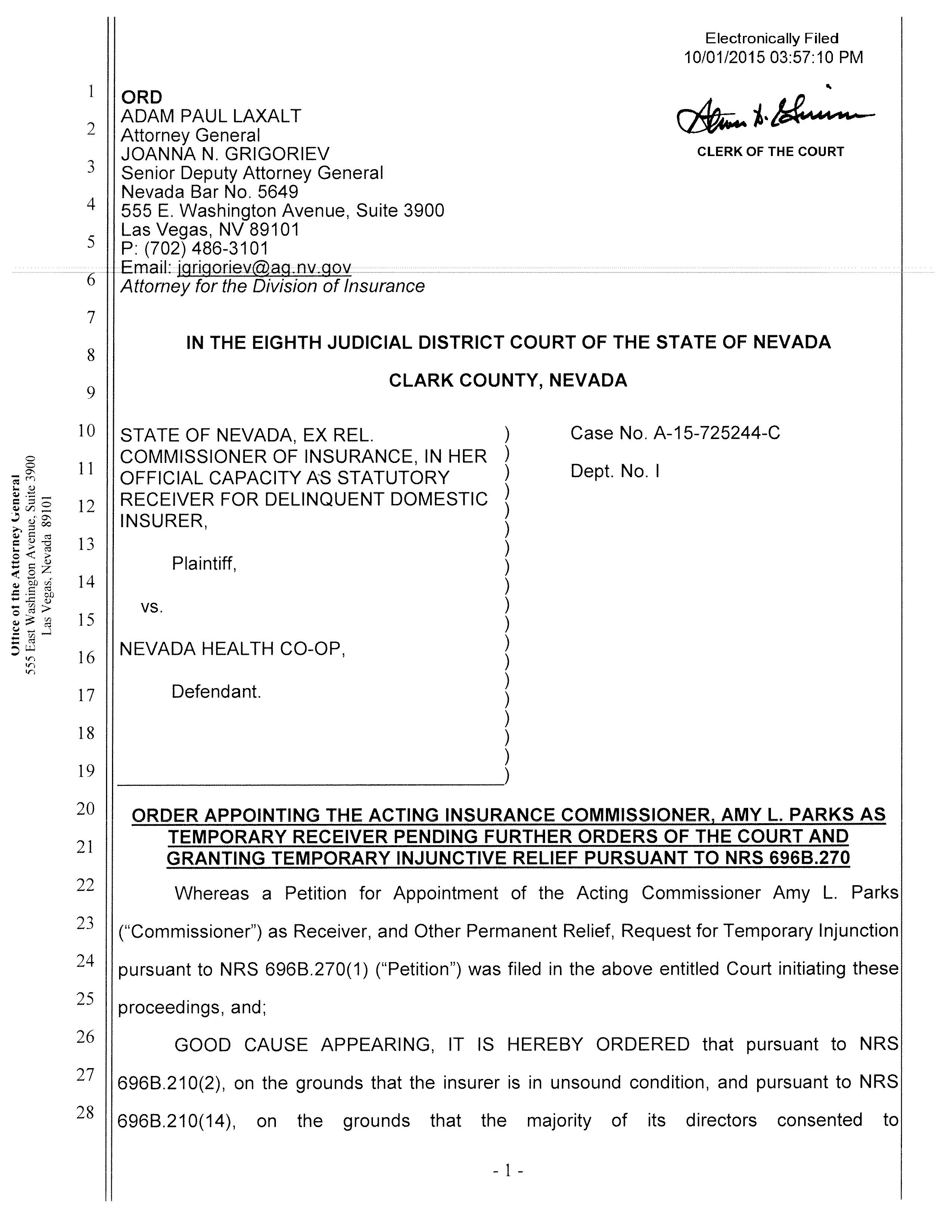 Nevada Health Coop Sued